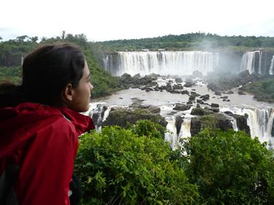 Blanca at the falls